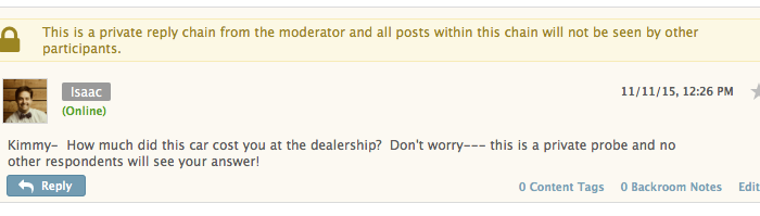 Private Moderator Probes